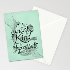 Smart. Kind. Important. Stationery Cards