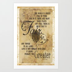 Love is Now Mingled with Grief Art Print
