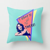 "30 rock Throw Pillows featuring ""I want to go to there!"" (30 Rock) by Galit Zeierman"
