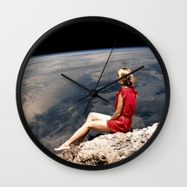 Girl with Red Dress Wall Clock