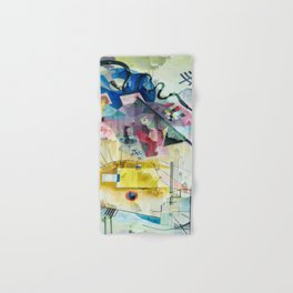 Displacement Glitch-Colorful Abstract Art Hand & Bath Towel