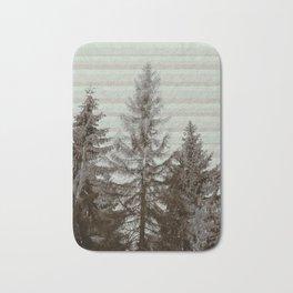 Three pine trees Bath Mat