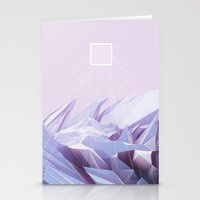 data Stationery Cards featuring Data Crystals by memoirnova