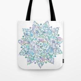 Mermaid Dreams Mandala on White Tote Bag