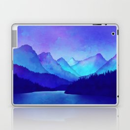 Cerulean Blue Mountains Laptop & iPad Skin
