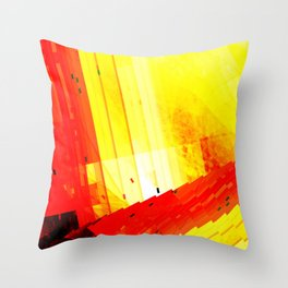 don't go out, the world is burning Throw Pillow