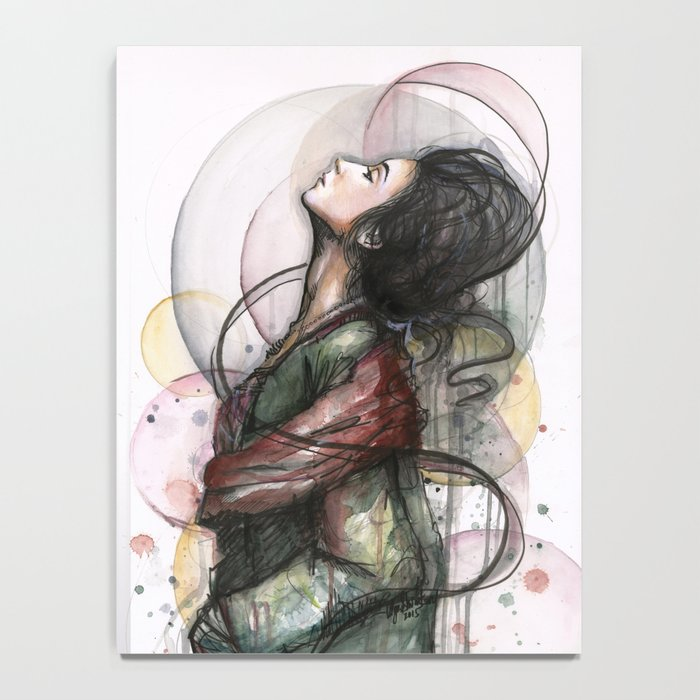 Beauty Illustration Beautiful Woman Feminine Portrait Notebook
