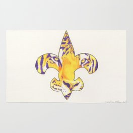 Fleur De Lis LSU Tiger Rug