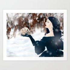 The cold bite of Winter Art Print