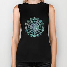 Floral Abstract 4 Biker Tank