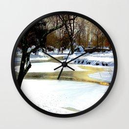 Golden Pond Wall Clock