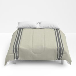 Vintage Country French Grainsack Grey Gray Stripes Linen Color Background Comforters