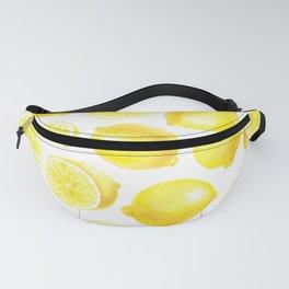 Watercolor lemons design Fanny Pack