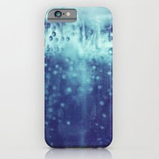 Blue and purple bubble clouds iPhone 6s Slim Case
