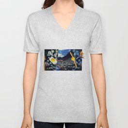 Wind pollination | Collage Unisex V-Neck