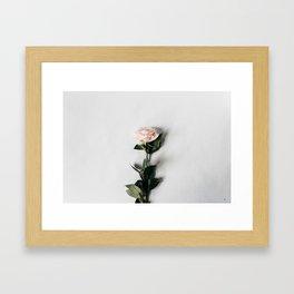 Minimalist Rose Framed Art Print