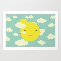 sunshine in clouds Art Print