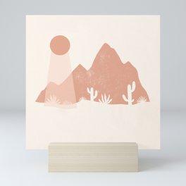 sonoran shapes Mini Art Print