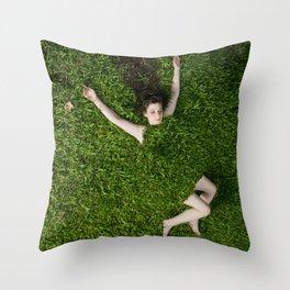 Green Mareen Throw Pillow