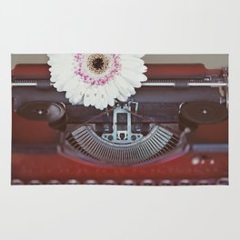 Message of Love Typewriter Rug