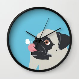 Pug Butterfly Flat Graphic Wall Clock