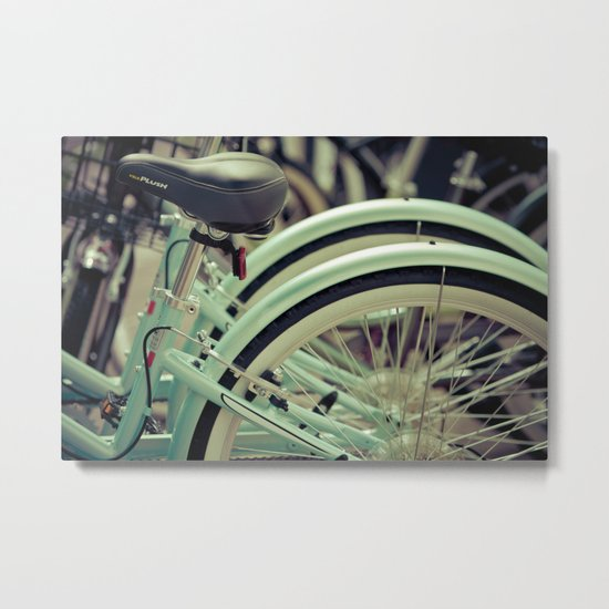 """Life is like a ten speed bicycle. Most of us have gears we never use."" ~Charles M. Schulz~ Metal Print"