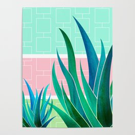 Palm Springs Mood ~ Midcentury Succulents Poster