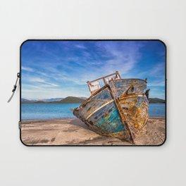 Washed up Boat Laptop Sleeve