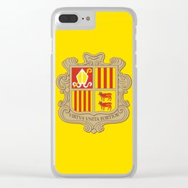 Andorra Flag Clear iPhone Case