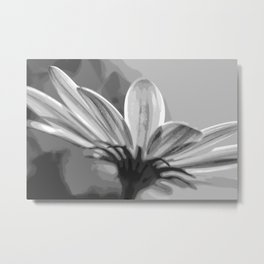 Purple Hints in Comic Black and White Metal Print
