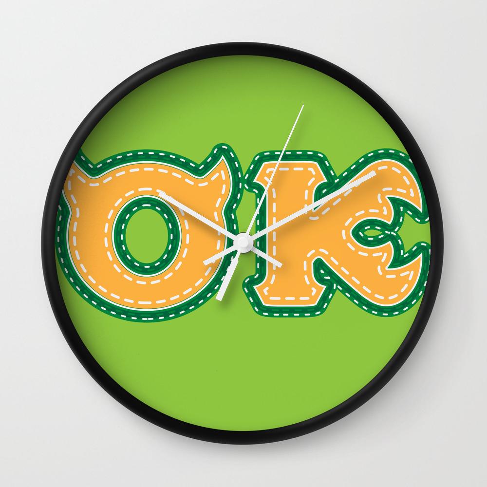 Monster University Fraternity Oozma Kappa Wall Clock By Darkchocolat Society6