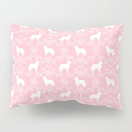 Bernese Mountain Dog florals dog pattern minimal cute gifts for dog lover silhouette pink and white Pillow Sham