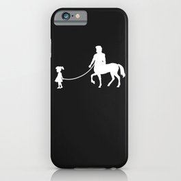 Girl Walks Centaur iPhone Case
