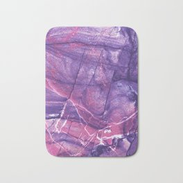 Smokey Ultra Violet and Pink Marble Bath Mat