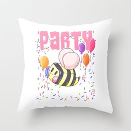Bee working party gift Throw Pillow