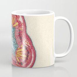 Growing - Glycine (soy) - embroidery based on plant cell under the microscope Coffee Mug