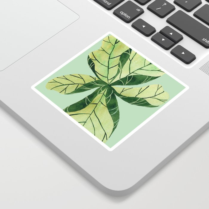 Leaf flower Sticker