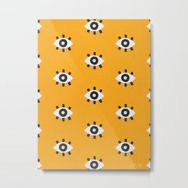 Evil Eye Dots – Marigold Palette Metal Print