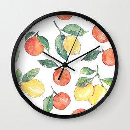 Oranges and Lemons Wall Clock