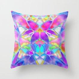 Floral Fractal Art G307 Throw Pillow