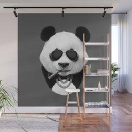 Panda in Black Wall Mural