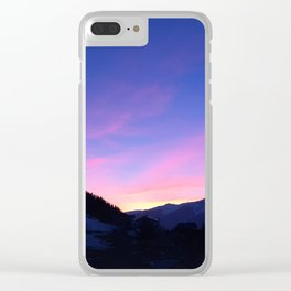 150. The Pink Mountain, France Clear iPhone Case