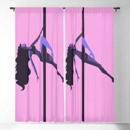 fitness sport pole dancer climbing Blackout Curtain