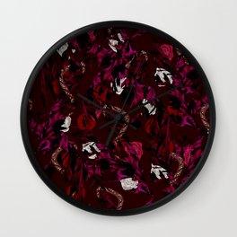 Leaves Snake Rosen Garden Wall Clock