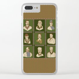 Men of the 'Stache Clear iPhone Case