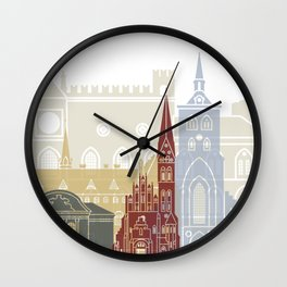 Odense skyline poster Wall Clock