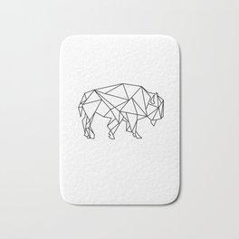 Geometric bizon Bath Mat
