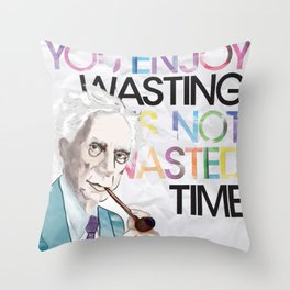 Wasted Time Throw Pillow