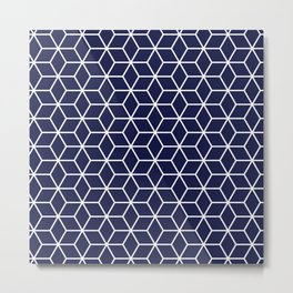 Winter 2019 Color: Ultra Blue Moon in Cubes Metal Print
