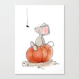 Little Mouse - Pumpkin  Canvas Print